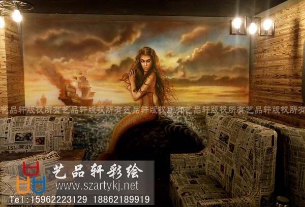 苏州墙绘-商业空间彩绘