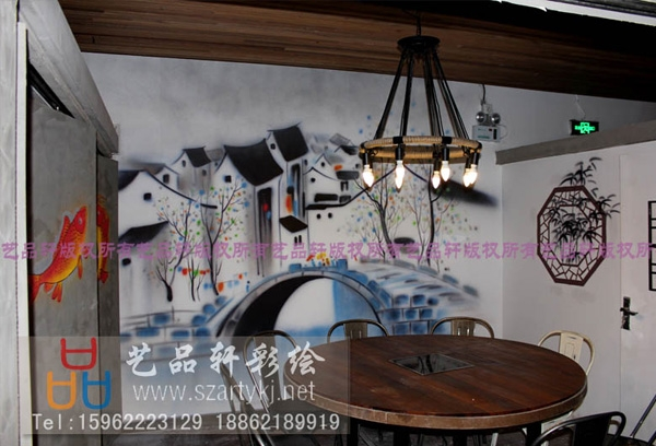 苏州手绘-商业空间彩绘